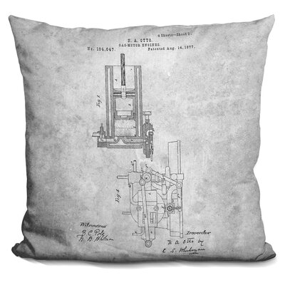 Cauley Engine Print Throw Pillow