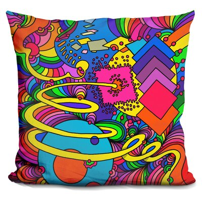 Corinna Throw Pillow Color: Red/Yellow/Blue