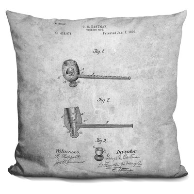 Caulfield Tobacco Pipe Blueprint Throw Pillow