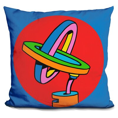 Loop Duo Circle Throw Pillow