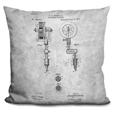 Chartrand Tatto Machine Throw Pillow Color: Gray