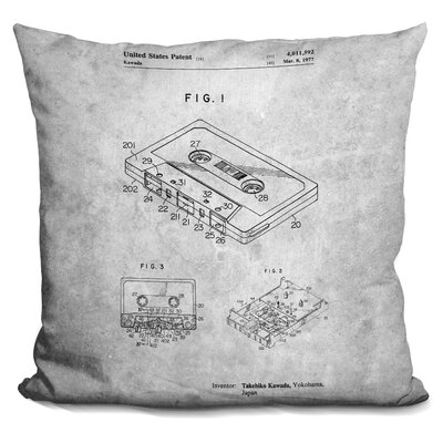 Cauthen Cassette Print Throw Pillow