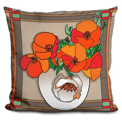 Poppy Bowl Throw Pillow Color: Brown/Orange