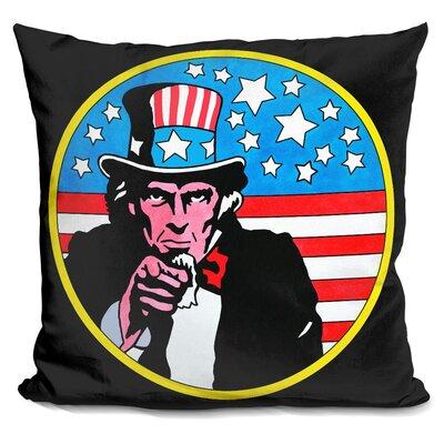 Uncle Sam Circle Throw Pillow