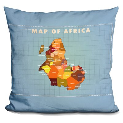 Penix Upside Down Africa Throw Pillow