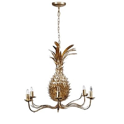 Ines�Striking Pineapple 4-Light Candle-Style Chandelier
