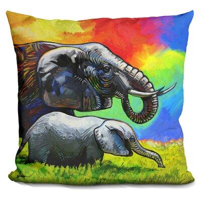 Elephant Pop Mom Cub Throw Pillow