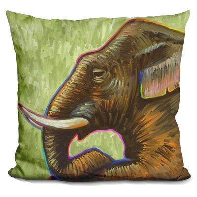 Edelen Elephant Pop Profile Throw Pillow