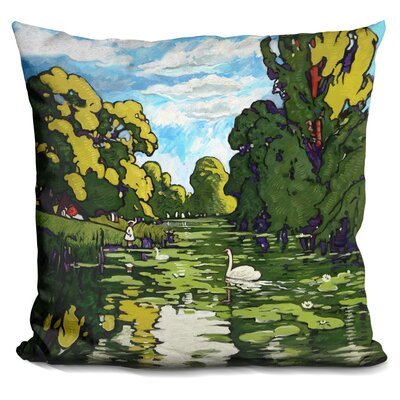 Landscape Gardens Throw Pillow