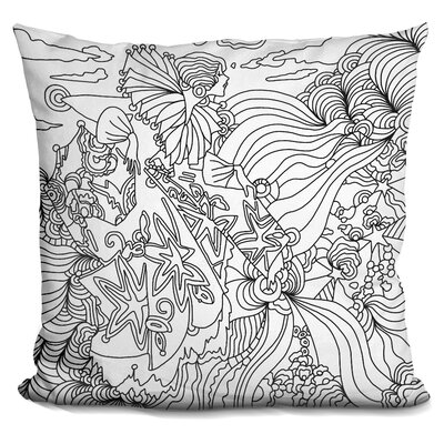 Art Deco Lady Mambo Throw Pillow