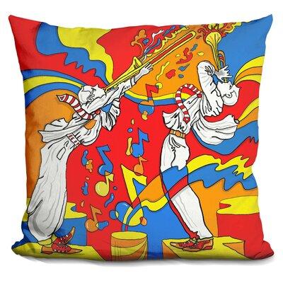 Horn Duo Throw Pillow