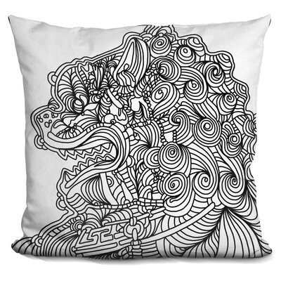 Asian Lion Throw Pillow