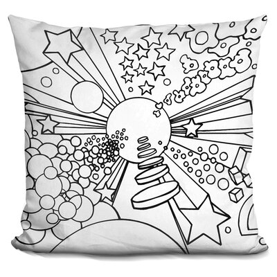 Corinna Cosmic Expanding Throw Pillow Color: Black/White