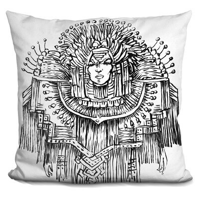 Mardigras Lady Throw Pillow
