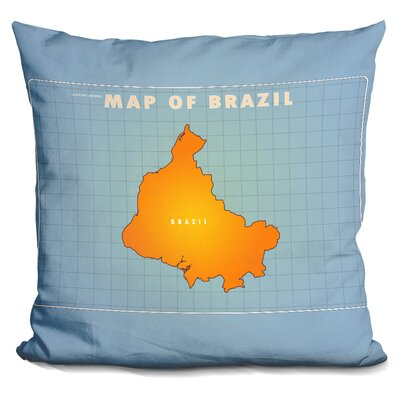 Upside Down Brazil Throw Pillow