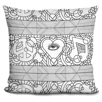 Love Music Horiz Throw Pillow