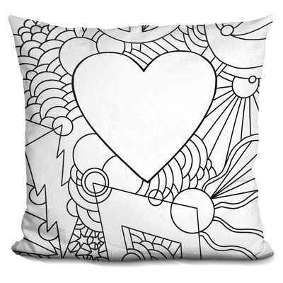 Love Music Vert Throw Pillow