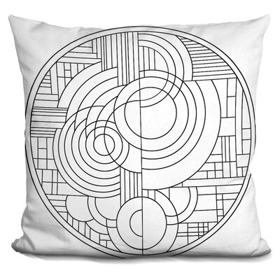 Circles Throw Pillow Color: Gray