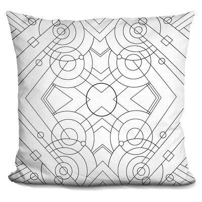 Deco Panel Throw Pillow Color: Black/White