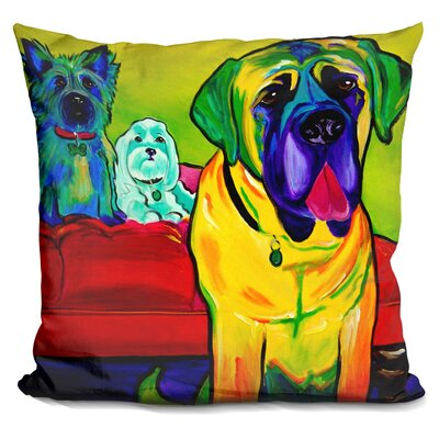 Drooler Get the Floor Throw Pillow