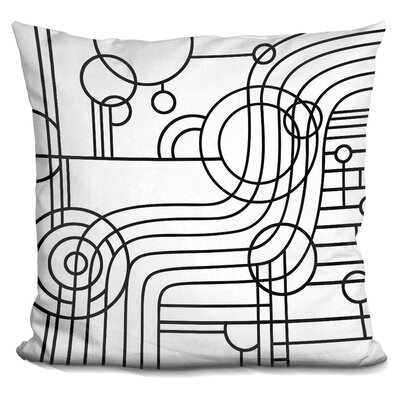 Stripes Curves Throw Pillow