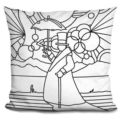 Umbrella Beach Man Throw Pillow