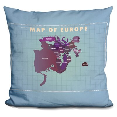 Penick Upside Down Europe Throw Pillow