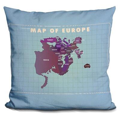 Penick Upside Down Europe Throw Pillow