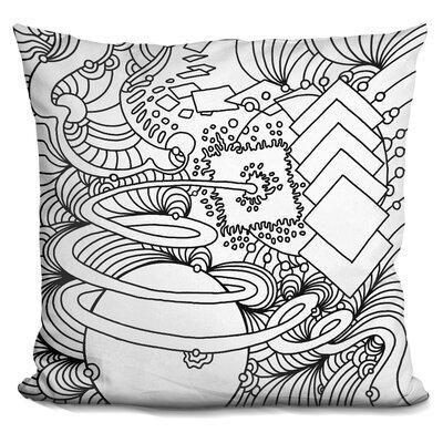 Corinna Throw Pillow Color: Black/White