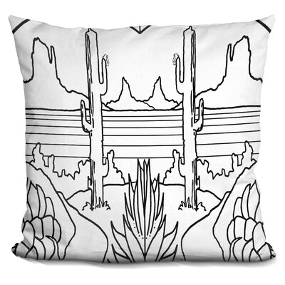 Desert Lineart Throw Pillow