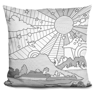 Diamond Head Throw Pillow Color: Gray