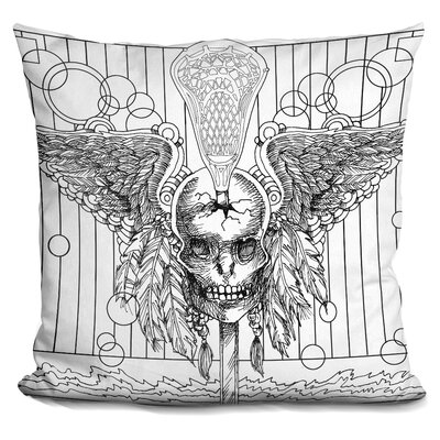 Skull Throw Pillow Color: Black/White