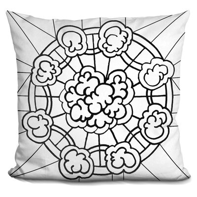 Kalidescope Icon Lineart Throw Pillow