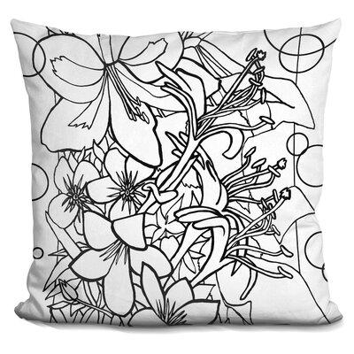 Kville Flowers Throw Pillow Color: Black/White