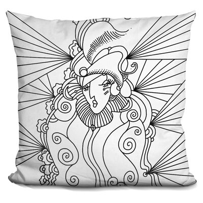 Lady 216 Linework Throw Pillow