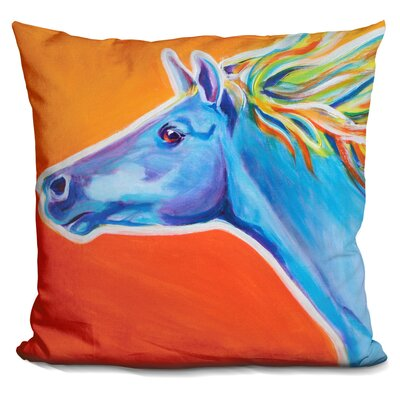 Horse Like the Wind Throw Pillow