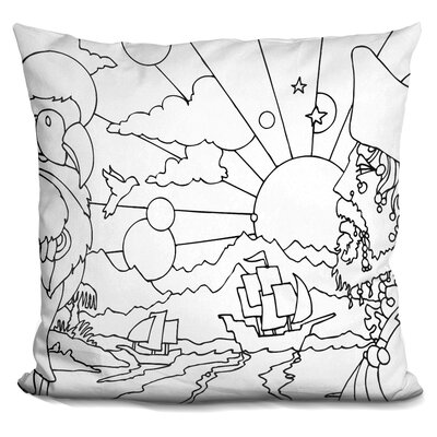 Pirates Throw Pillow Color: White