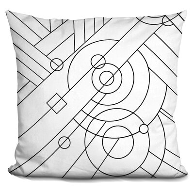Deco Panel Lineart Throw Pillow