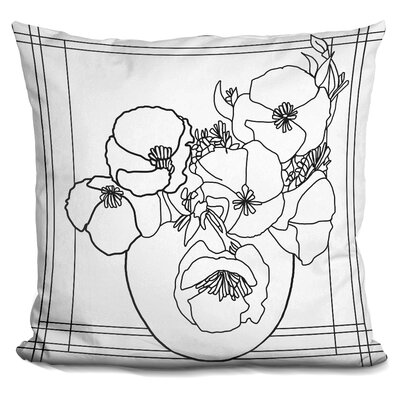 Poppy Bowl Throw Pillow Color: Black/White