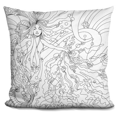 Siren Lineart Throw Pillow