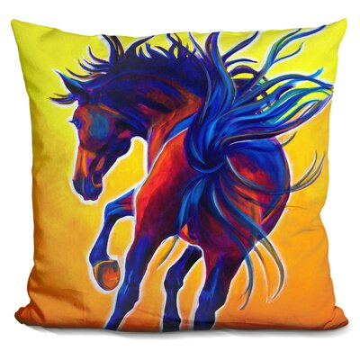 Horse Kick Up Your Heels Throw Pillow