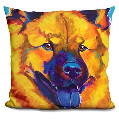 Chow Chow Sunshine Soul Throw Pillow