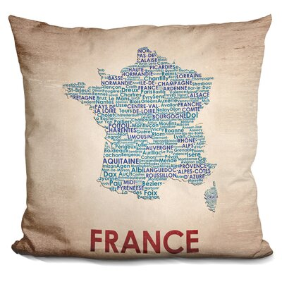 Crotty France Throw Pillow