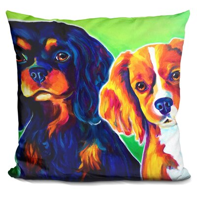 Saffy and Duck Throw Pillow