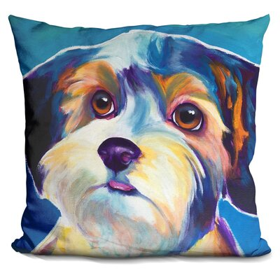 Yorkipoo Zoe Throw Pillow