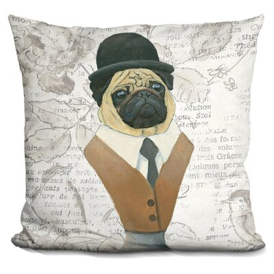 Cork Canine Couture Newsprint Throw Pillow