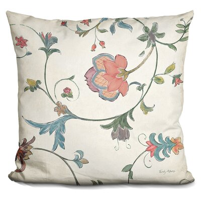 Josue Birds Gem Floral Throw Pillow