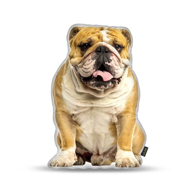 Matthies English Bulldog Throw Pillow