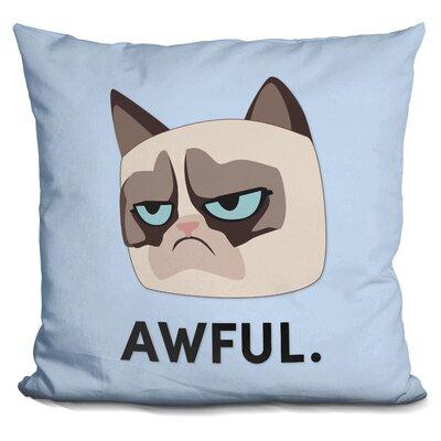 Awful Crumpy Cat Throw Pillow