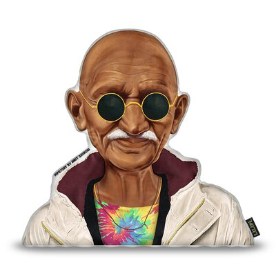 Gandhi Throw Pillow